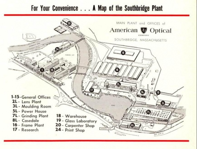 Map of AO complex (1959)