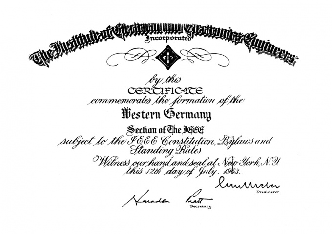 IEEE Germany Section History - Engineering and Technology