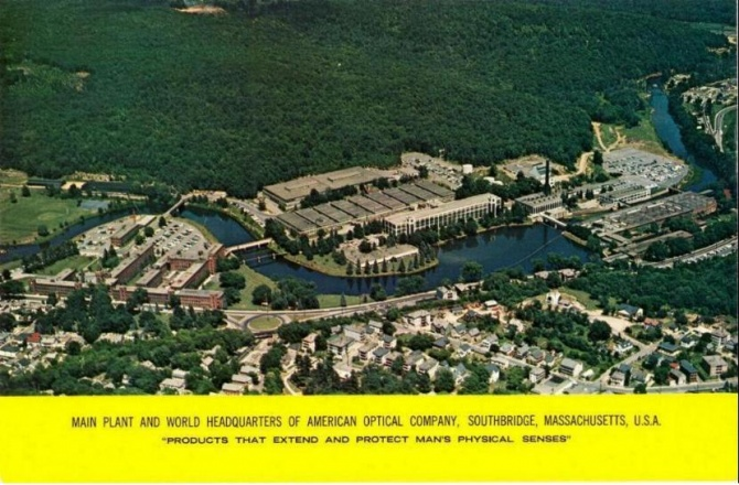 Aerial postcard of the AO plant (ca 1964).