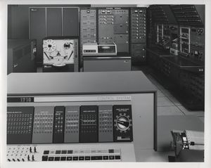The Ibm 1710 In A Process Control Environment Shown On Left Center Is 1711 Box With Input Output Hardware