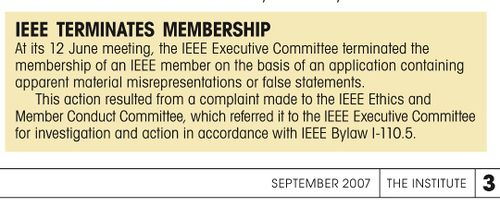 IEEE Membership Termination Notice, INSTITUTE September 2007.jpg