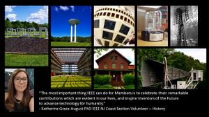 IEEE NJ Coast Section History Collage of images